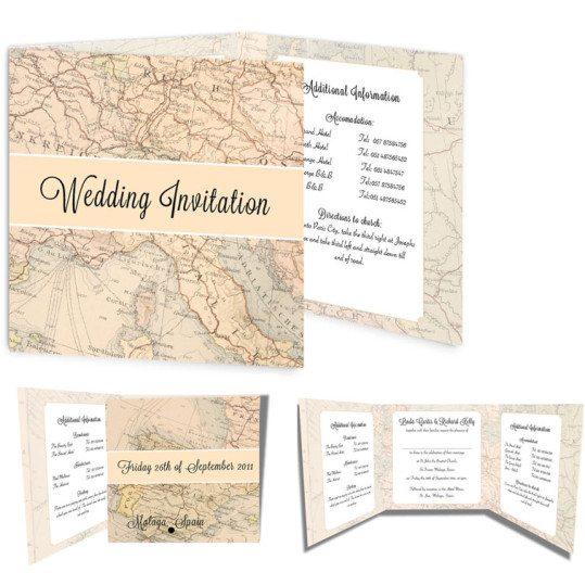 Around the world Tri-Fold Invitation