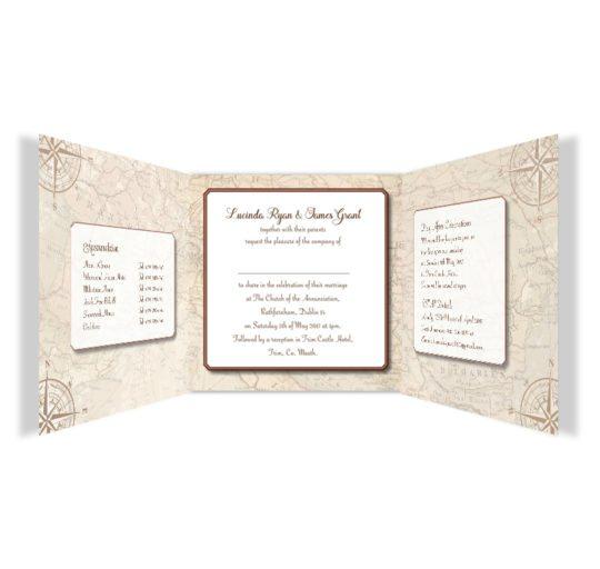 Around the world travel inspired wedding invitation - tri-fold-inside_2
