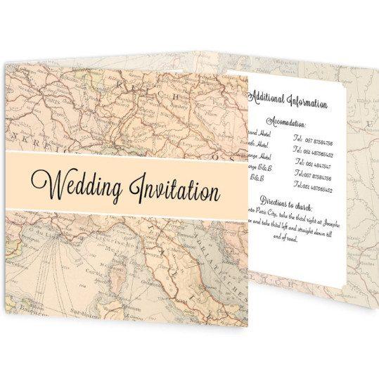 Around the world Tri-Fold Invite