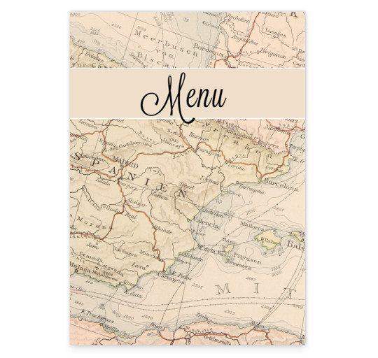 Around the world menu Front