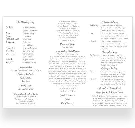 Ceremoney letter fold_inside