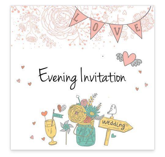 Evening Invite_midsummer dream wedding invitation