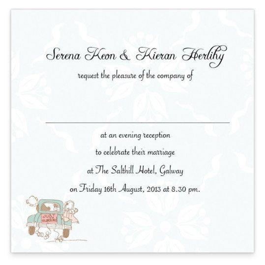 Love Story Evening Invite_back wedding invitation