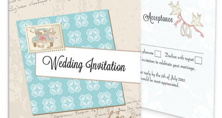 Love story Tri-Fold & RSVP Invite_front