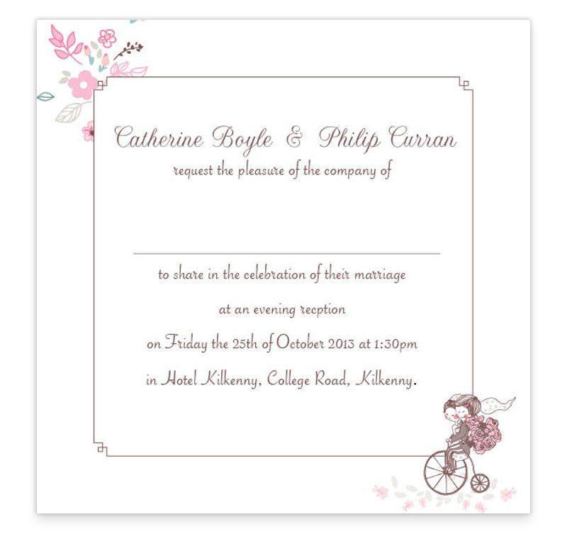 The Smitten Couple Evening Invitation - Loving Invitations