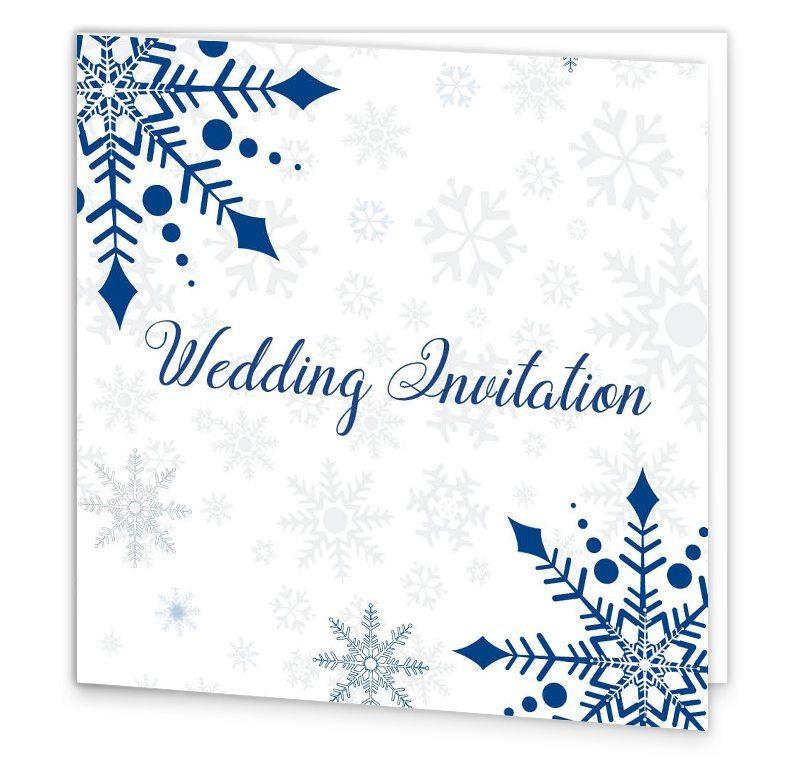 Snowflake Tri Fold Wedding Invite Loving Invitations