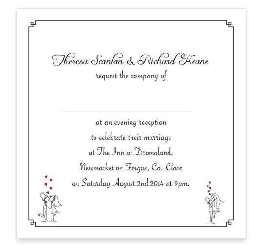Stick Couple Proposing Invite inside