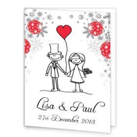 Stick couple xmas Wedding Booklet_front