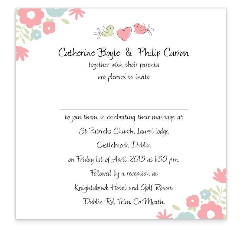 Flat Wedding Invitations: Sweetness & Light Flat Wedding Invitations