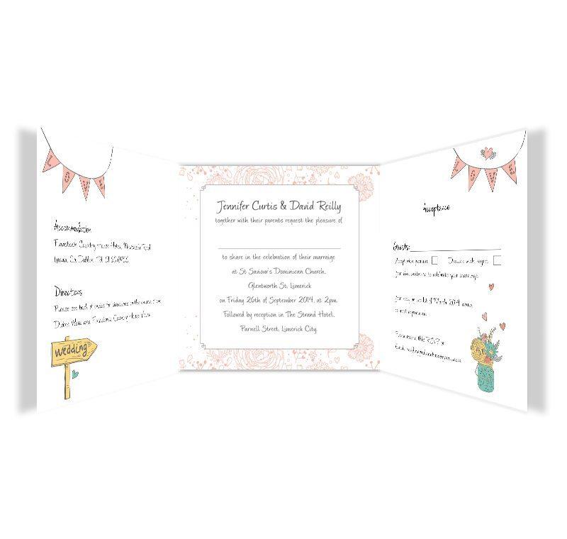 midsummer dream tri fold wedding invite rsvp loving invitations