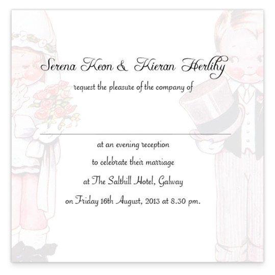 Wedded Children Evening Invite_back