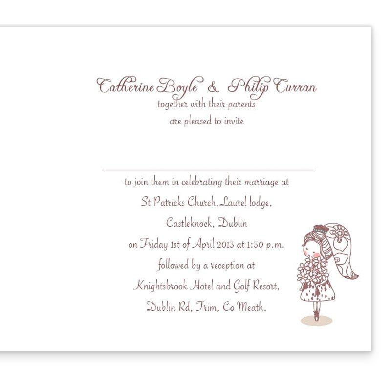 Cute Couple Folding Wedding Invite Sample - Loving Invitations