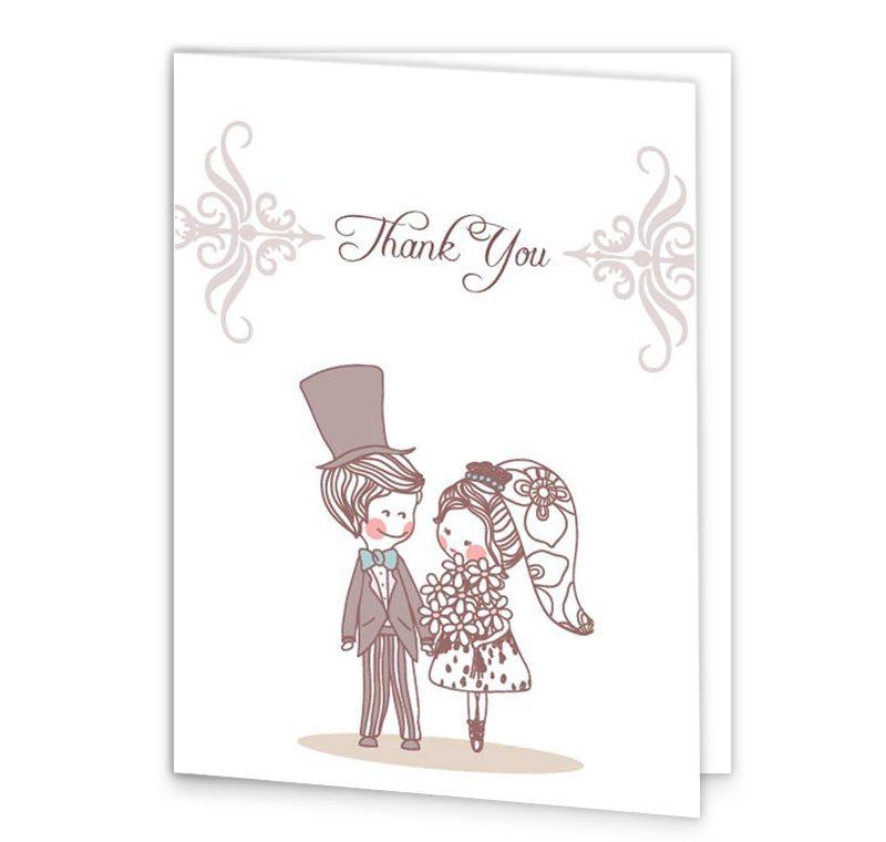 Cute Couple Wedding Thank You Cards EUR10900