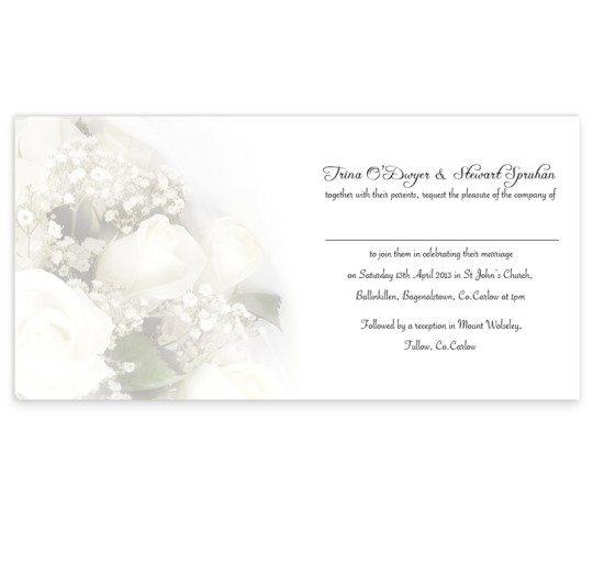 wedding bands Folding Invite inside
