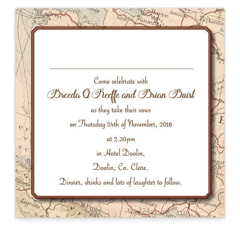 Flat Wedding Invitations: Around The World Flat Wedding Invite