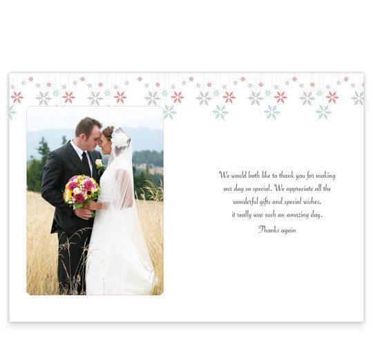 Winter Romance wedding thank you card_inside