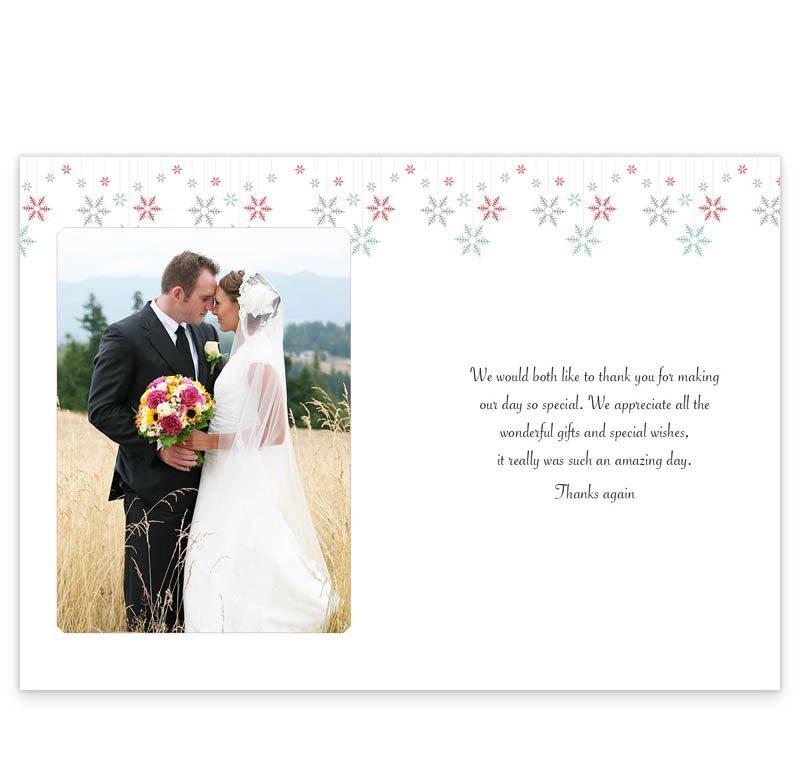 Winter Romance Wedding Thank You Cards