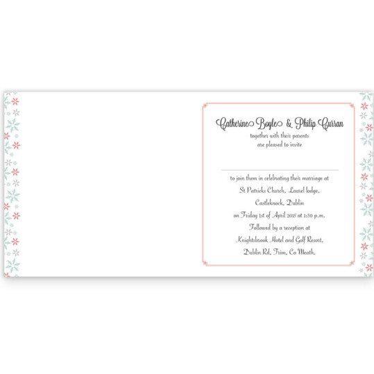 Winter Romance Folding Wedding Invitation inside_2