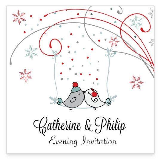 Winter Romance evening Invite