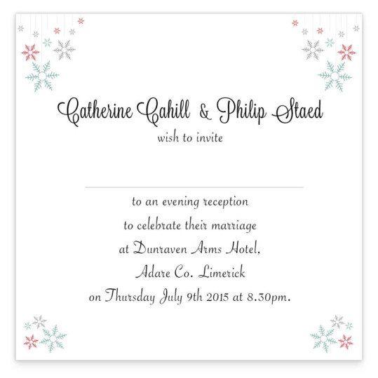 Winter Romance evening Invite back