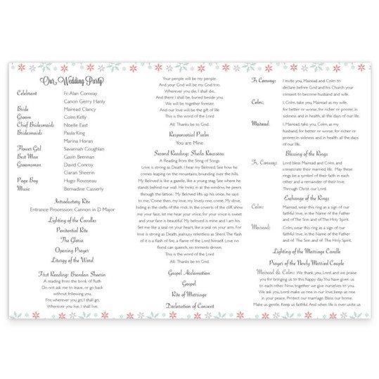 Winter Romance Ceremony Booklet Pamphlet_inside