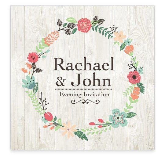 Rustic Romance Evening Invite
