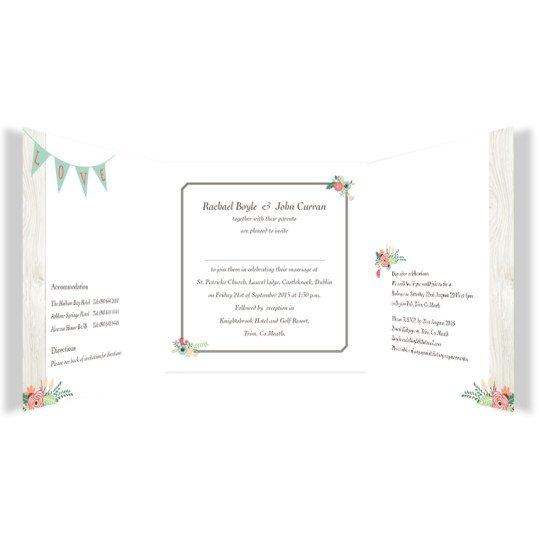 Rustic Romance Tri-fold wedding Invite_inside_2