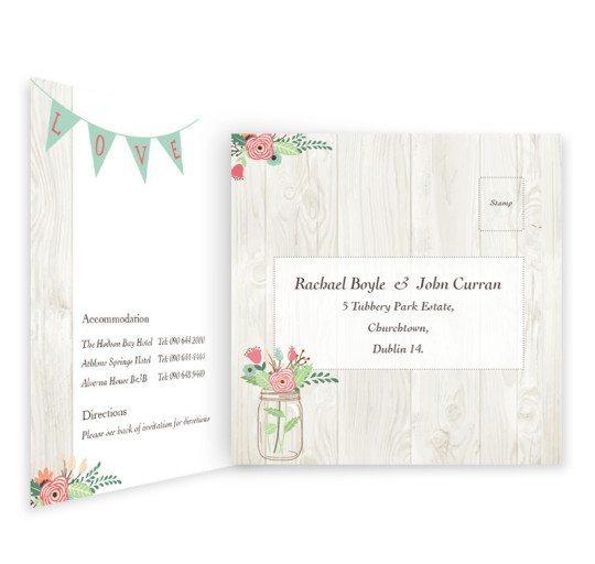 Rustic Romance Tri-fold w RSVP wedding Invite_inside