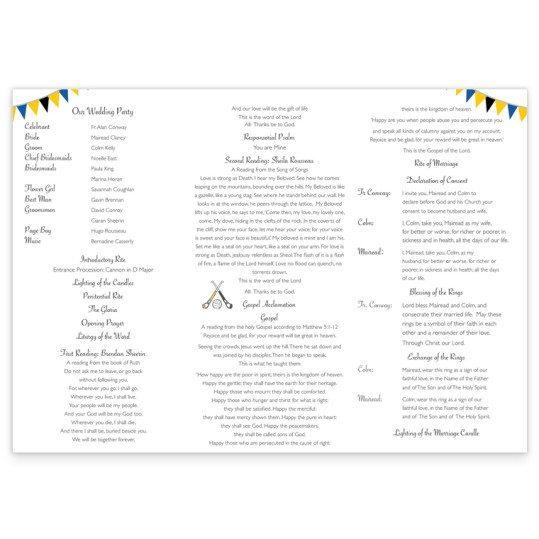 GAA_tri-fold_inside_wedding ceremony booklet