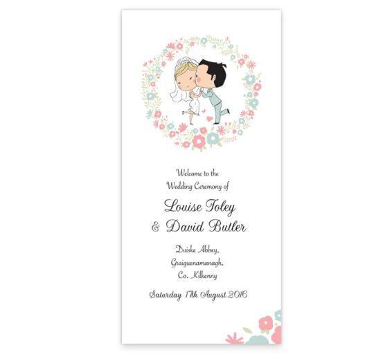 Sweetness & light Wedding Ceremeony Pamphlet__front
