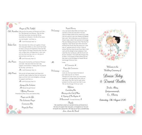 Sweetness & light Wedding Ceremeony Pamphlet__front_2