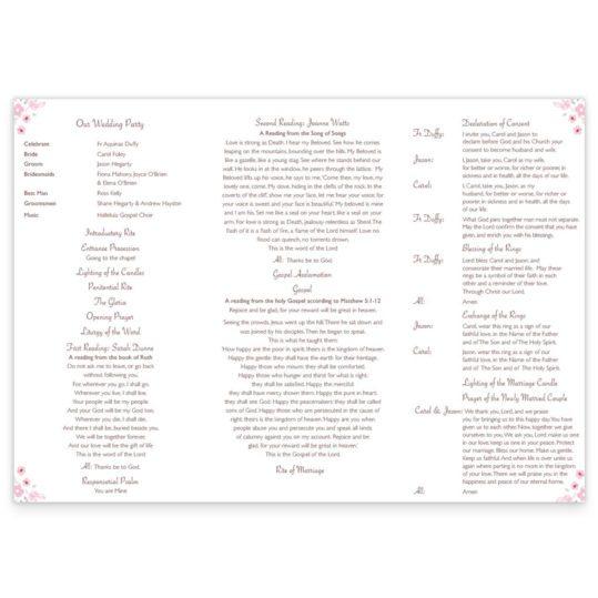 Smitten Wedding Ceremony Pamphlet_back