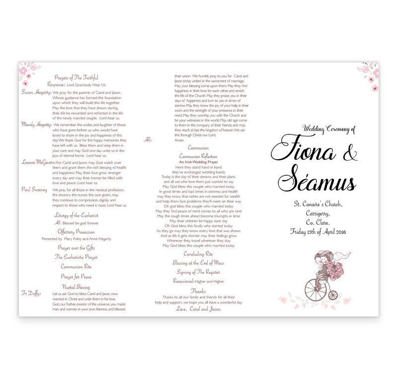 Smitten Couple Wedding Ceremony Booklet