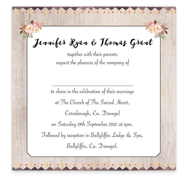 Flowering Affection Flat Wedding Invitation - Loving Invitations