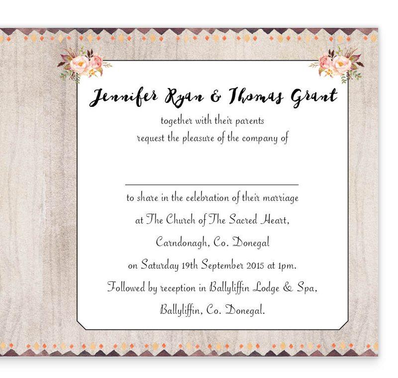 Flowering Affection Folding Wedding Invitation - Loving Invitations