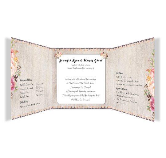 Flowering Affection Tri-fold wedding Invite inside_2