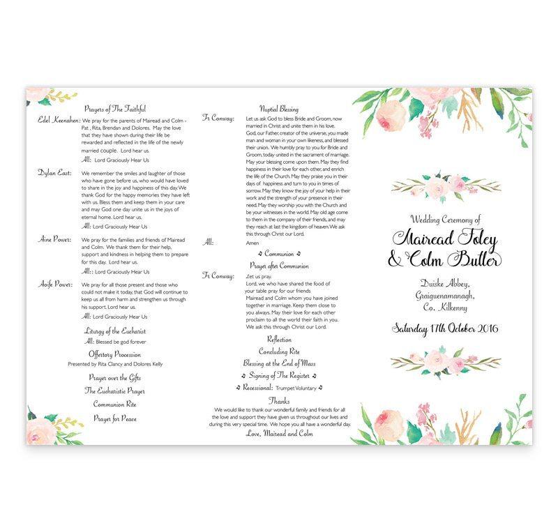 wedding ceremony booklet