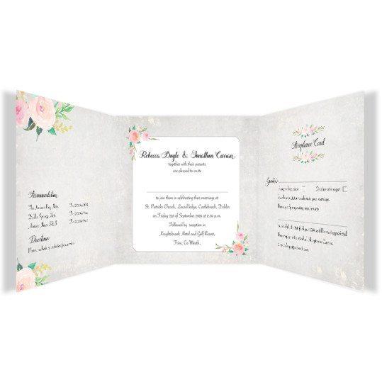 Floral Beauty Tri-Fold Invite w rsvp_inside_2