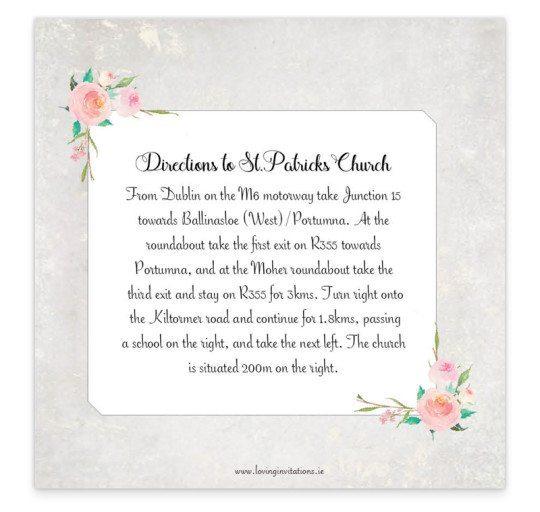 Floral Beauty Tri-Fold Invite_inside wedding invitation