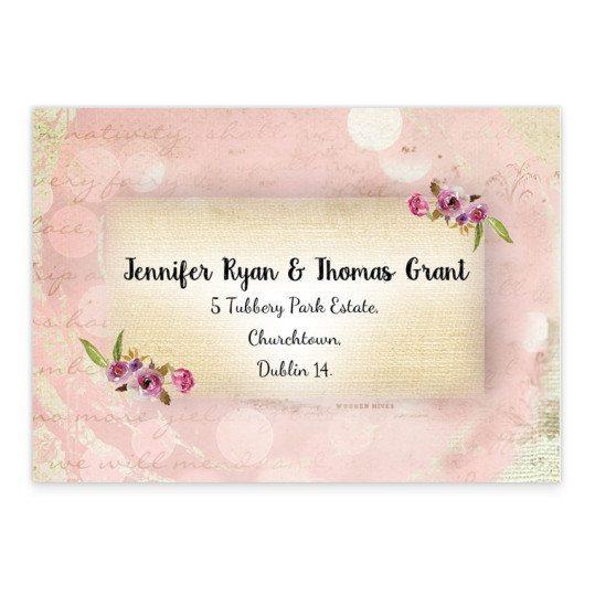 Antique Floral RSVP Card