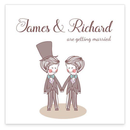Same Sex Wedding invitation - evening mr_2