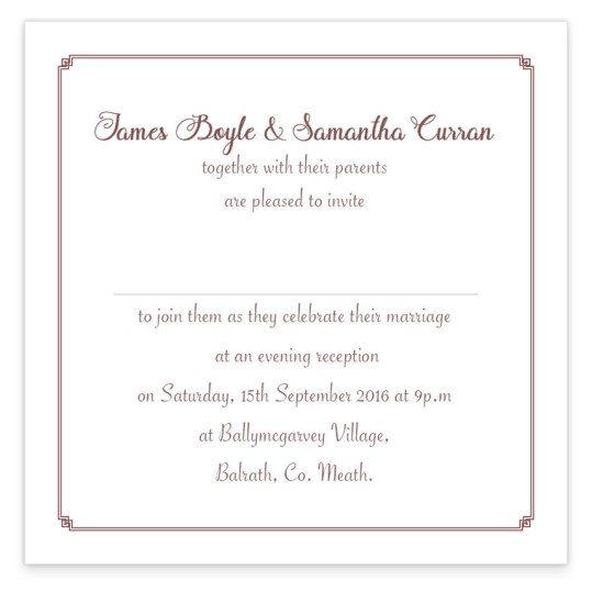 Same Sex Wedding invitation - evening mr