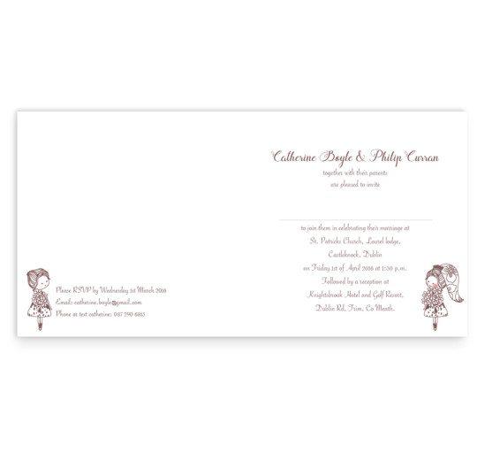 Same Sex wedding invitation - folding Mrs_2