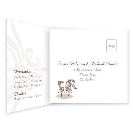 Same Sex wedding invitation - invite with rsvp_2