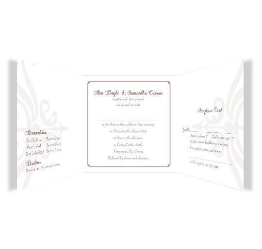 Same Sex wedding invitation - invite with rsvp_3
