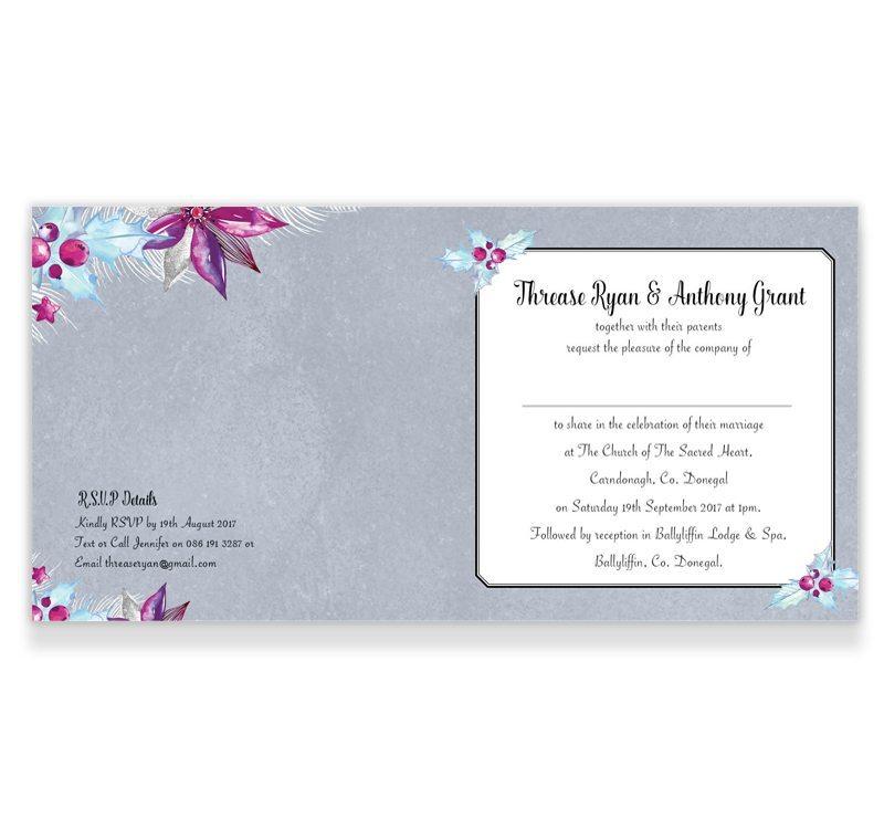 Merry and Light Folding Winter Wedding Invitation - Loving Invitations