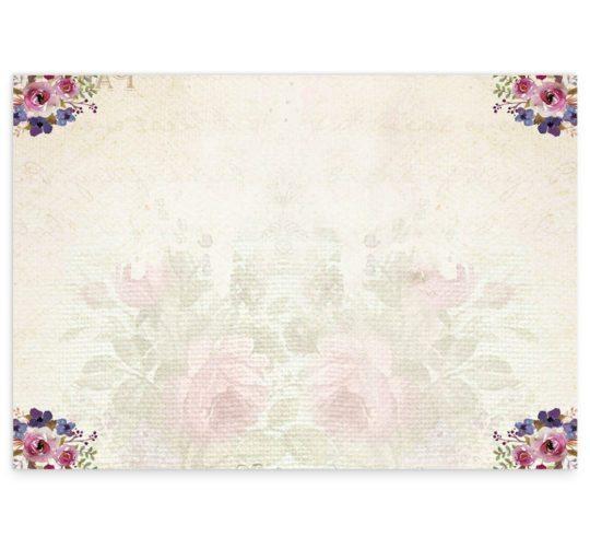 Antique Floral |wedding Ceremony booklet cover_back