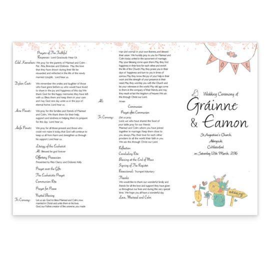 Midsummer Dream Wedding Ceremeony Pamphlet_back