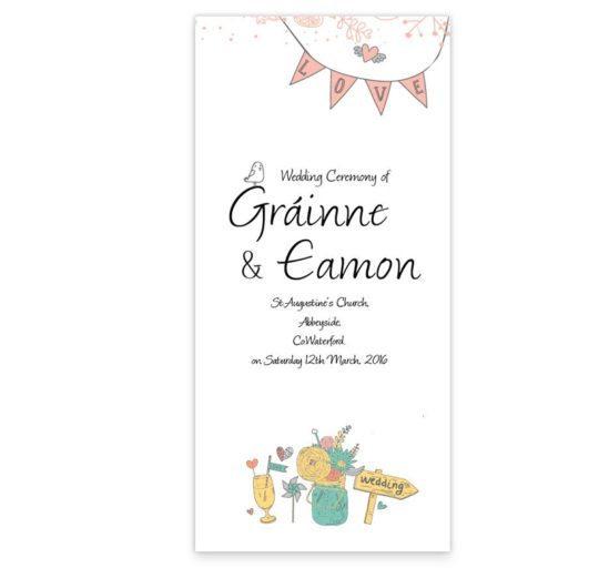 Midsummer Dream Wedding Ceremeony Pamphlet_front