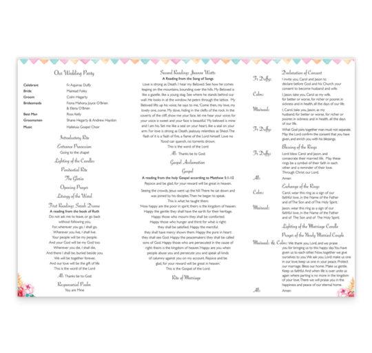 boho-chic-wedding ceremeony-pamphlet_inside